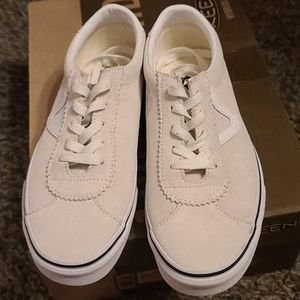 Vans white suede size 6,5 men 8 women